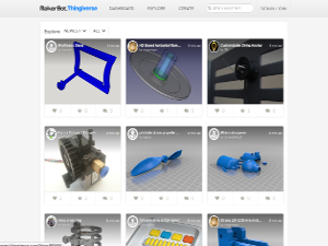 Página web de thingiverse